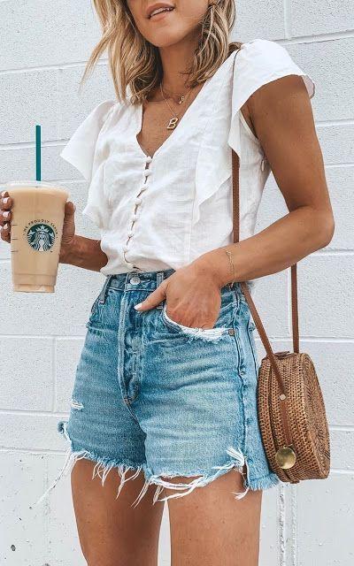 21 Süße Pinterest Jeans Shorts für Frauen   – Looks – #Frauen #für #Jeans #P…