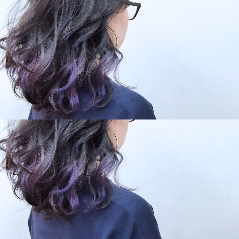 ボブをもっとおしゃれに 紫のインナーカラーおすすめヘア13選