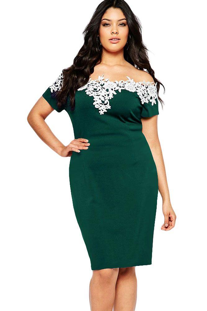 Casual plus size dresses black lace