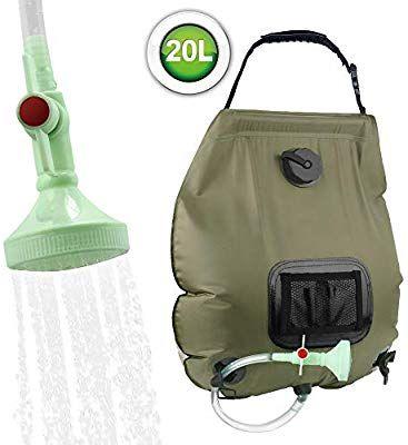 KIPIDA Solar Shower Bag,5 gallons/20L Solar Heating