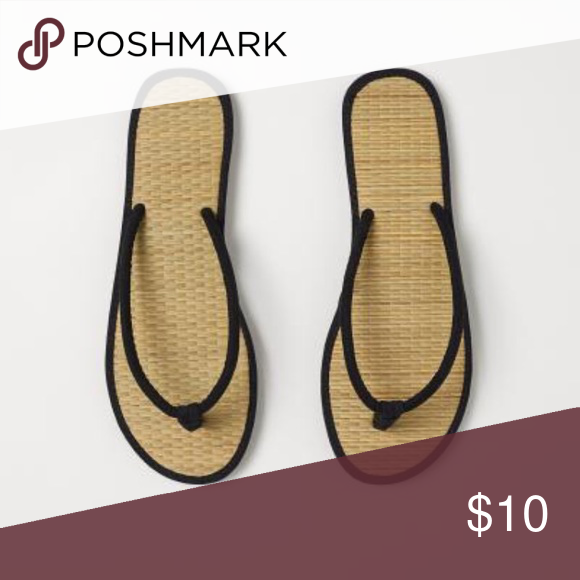 ab85d07b3 Black Sandals with faux suede straps. Black Sandals with faux suede straps.  Braided straw