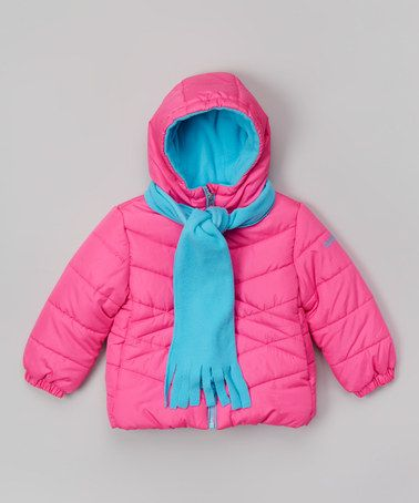 Another great find on #zulily! Hot Pink & Aqua Scarf Jacket - Girls by Pacific Trail #zulilyfinds - For Jayden