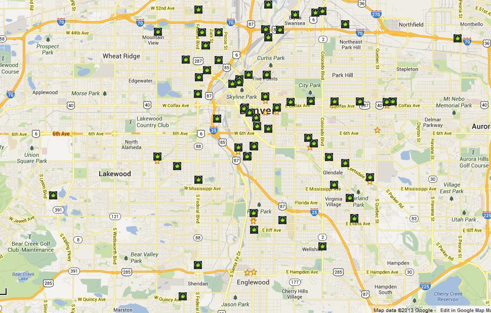Map Of Dispensaries In Colorado | Smeka
