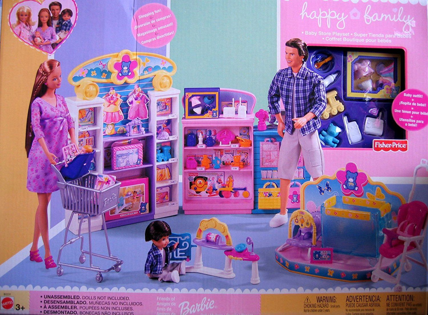 Barbie happy family baby store playset 2002 for Happy playsets