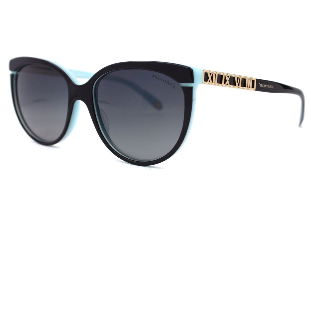 06bccedf69f Atlas Cat Eye Black Blue Sunglasses Gray Polarized Lenses TF 4097  TiffanyCo   CatEye