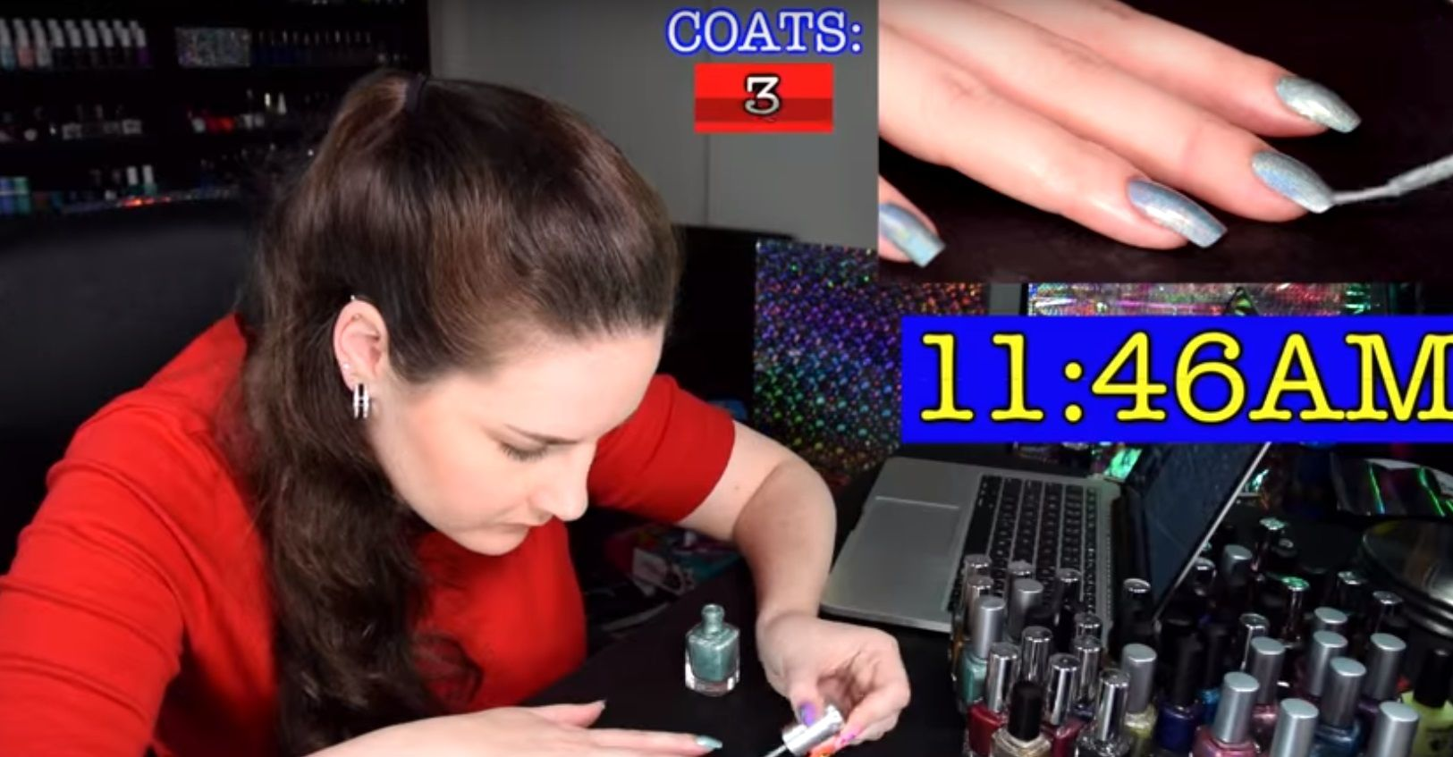 Crazy It is! A Beauty Blogger Spends 12 Hours Using 116 Nail Polish And Results Will Amaze You