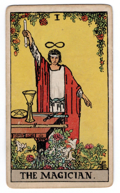 The Magician Tarot Card: Arthur Edward Waite - Pamela Smith