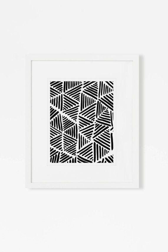 Minimalist modern painting black and white scandinavian art print large vertical wall art framed matted 18x24 16x20 11x14 8x10 5x7