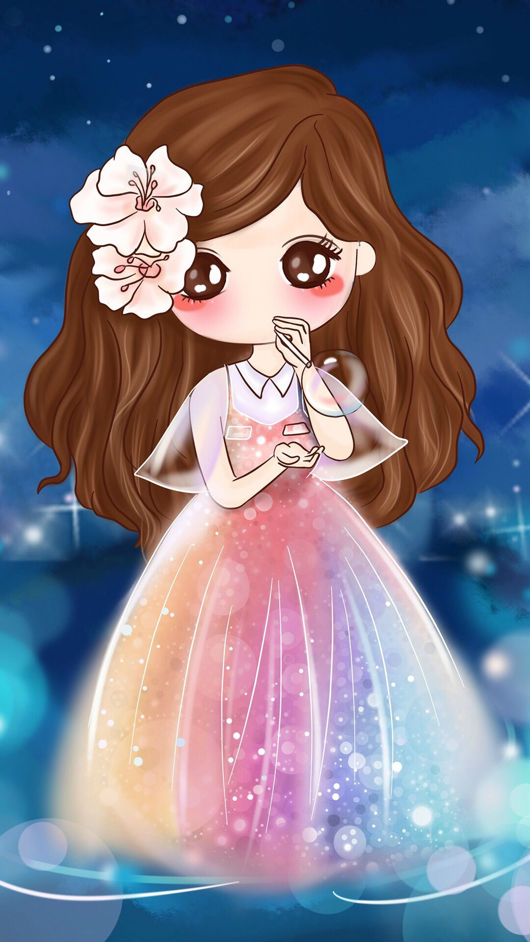 Chibi With Colourful Dress Tap to see more cute chibi