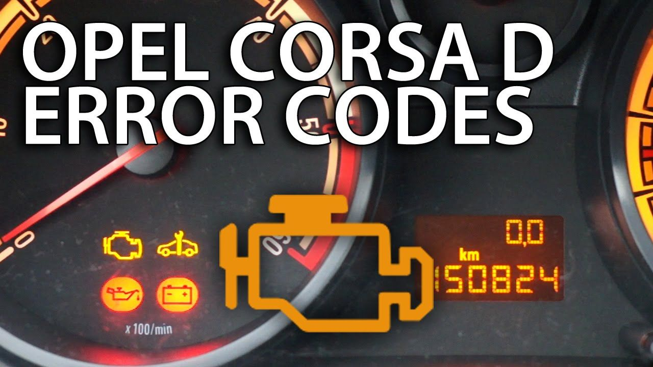 How to read DTCs #Opel #Corsa D (#Vauxhall diagnostic