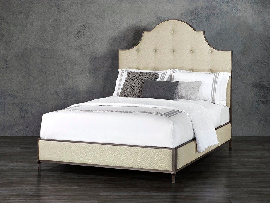 Lavish And Grand The Thayer Upholstered Iron Bed In Surround