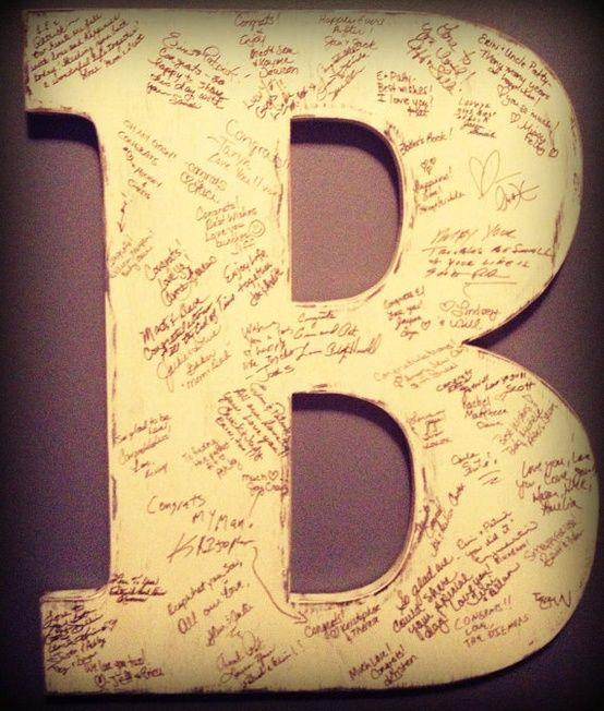 Rustic Wedding Guest Book Alternative Photo Prop Engagment 2 Foot Letter