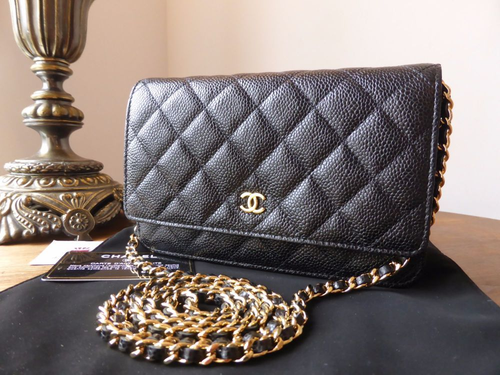 ec3a4a2ba6d6 Chanel WOC Wallet on Chain in Black Caviar Leather with Shiny Gold Hardware  > https