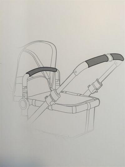 Bugaboo Buffalo - Handlebar replacement set - leather