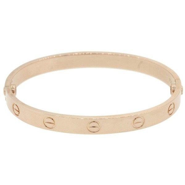Pre owned Cartier Love 18K Rose Gold Screw Bangle Bracelet Size 17
