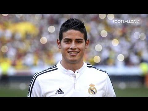 Real Madrid unveil new £63m signing James Rodríguez. . http://www.smallbusiness-resources.co.uk/Champions/real-madrid-unveil-new-63m-signing-james-rodriguez/.  #EUR #expensive player #GBP #James Rodríguez