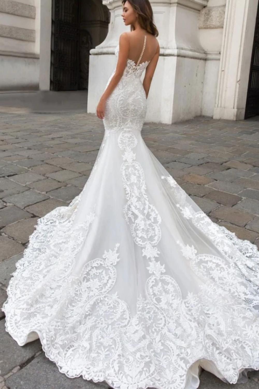 Slim Fit Wedding Dresses In 2020 Slim Fit Wedding Dresses Wedding Dress Buttons Wedding Dresses