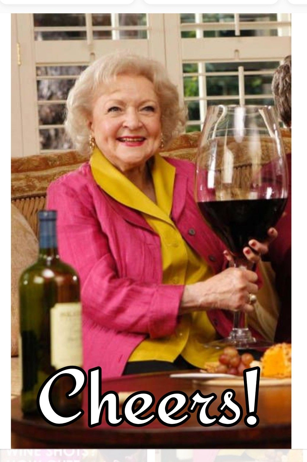 Cheers Betty White Beautiful Birthday Cards Birthday Wishes Funny Happy Birthday Images
