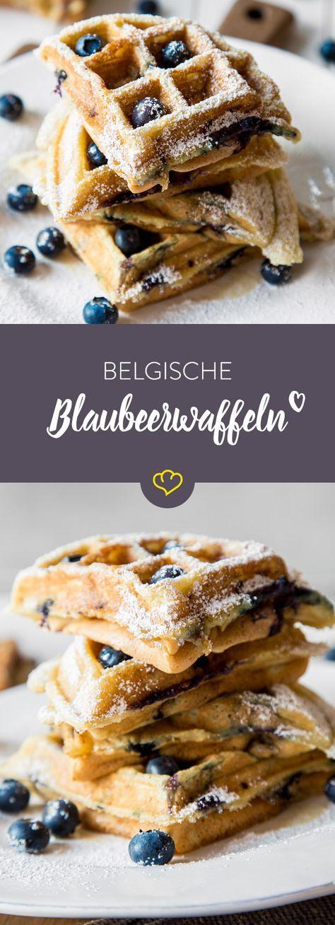 Einfach mal blau machen: Fluffige belgische Blaubeerwaffeln #mexicancooking