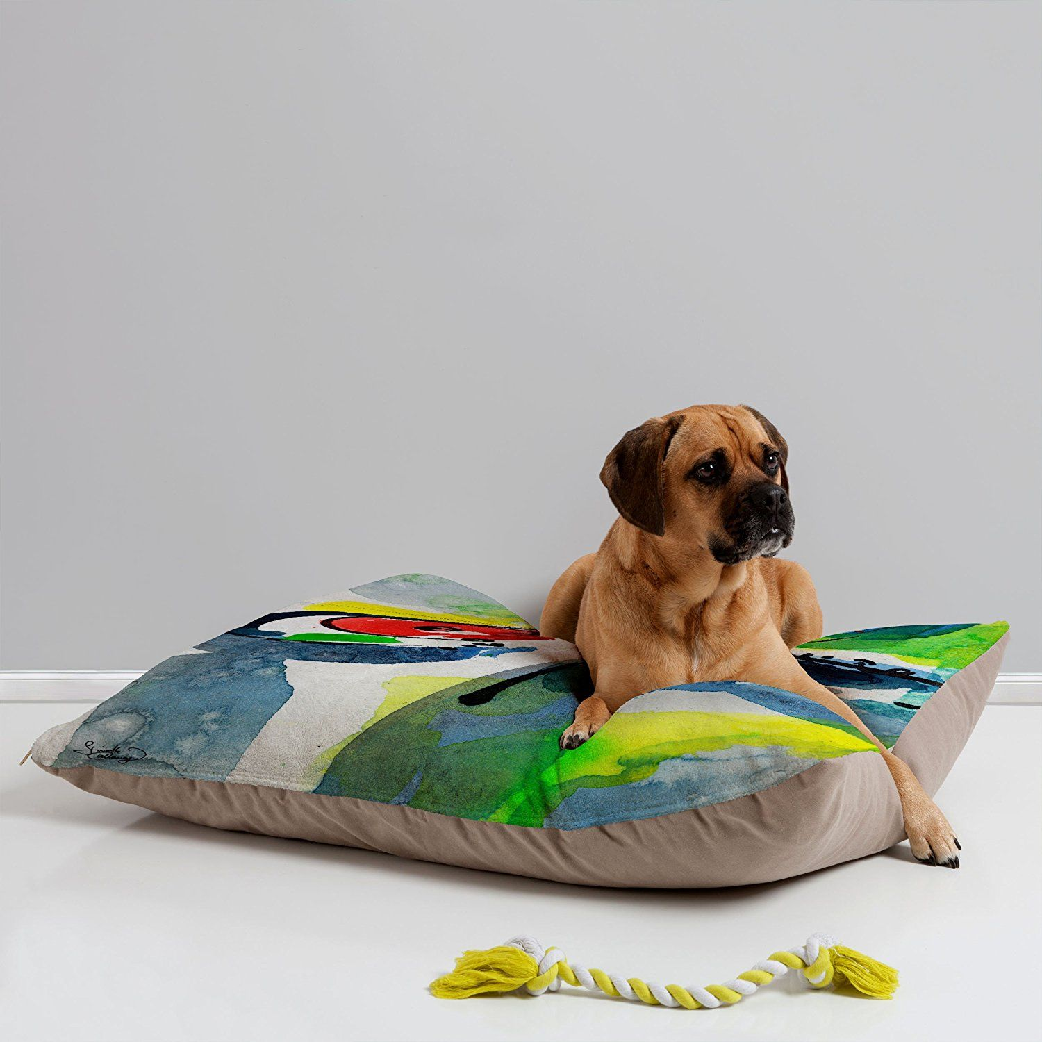 DENY Designs Fine Art Abstract Sunflowers Pet Bed