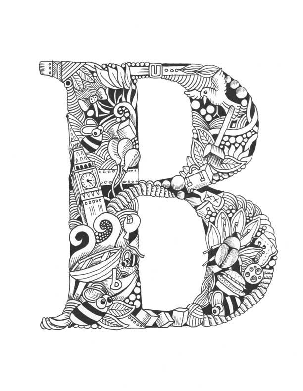 Coloring Pages Of Fancy Alphabet Letters : Image of squidoodle s book fancy letters colouring