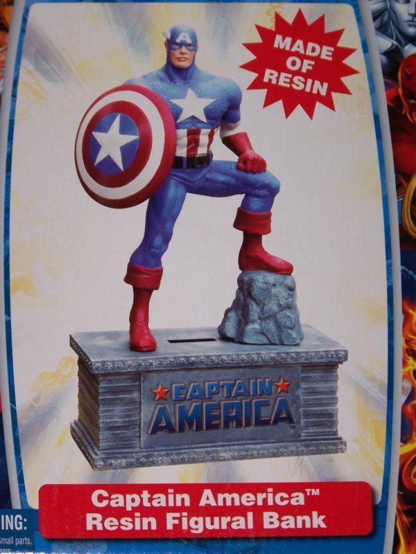 Captain America resin bank