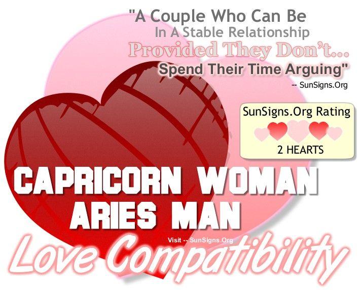 Aries man and sagittarius woman in love