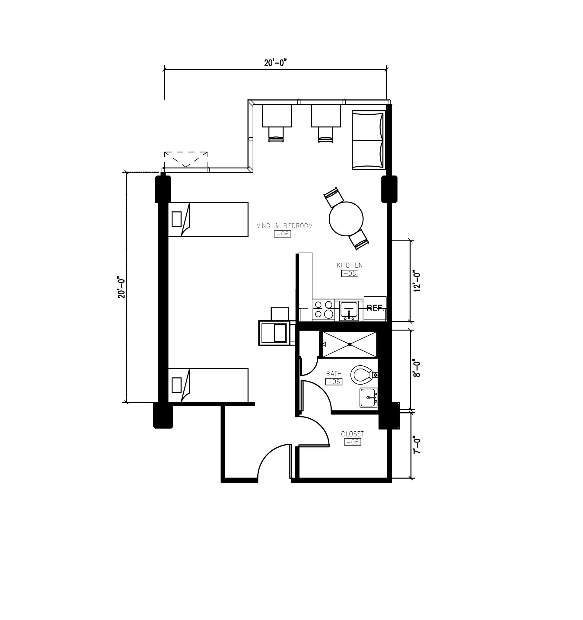 Morgens Hall 2 Person Small Studio Apartment Floor Plan Studio Apartment Floor Plans Apartment Floor Plan Small Studio Apartment