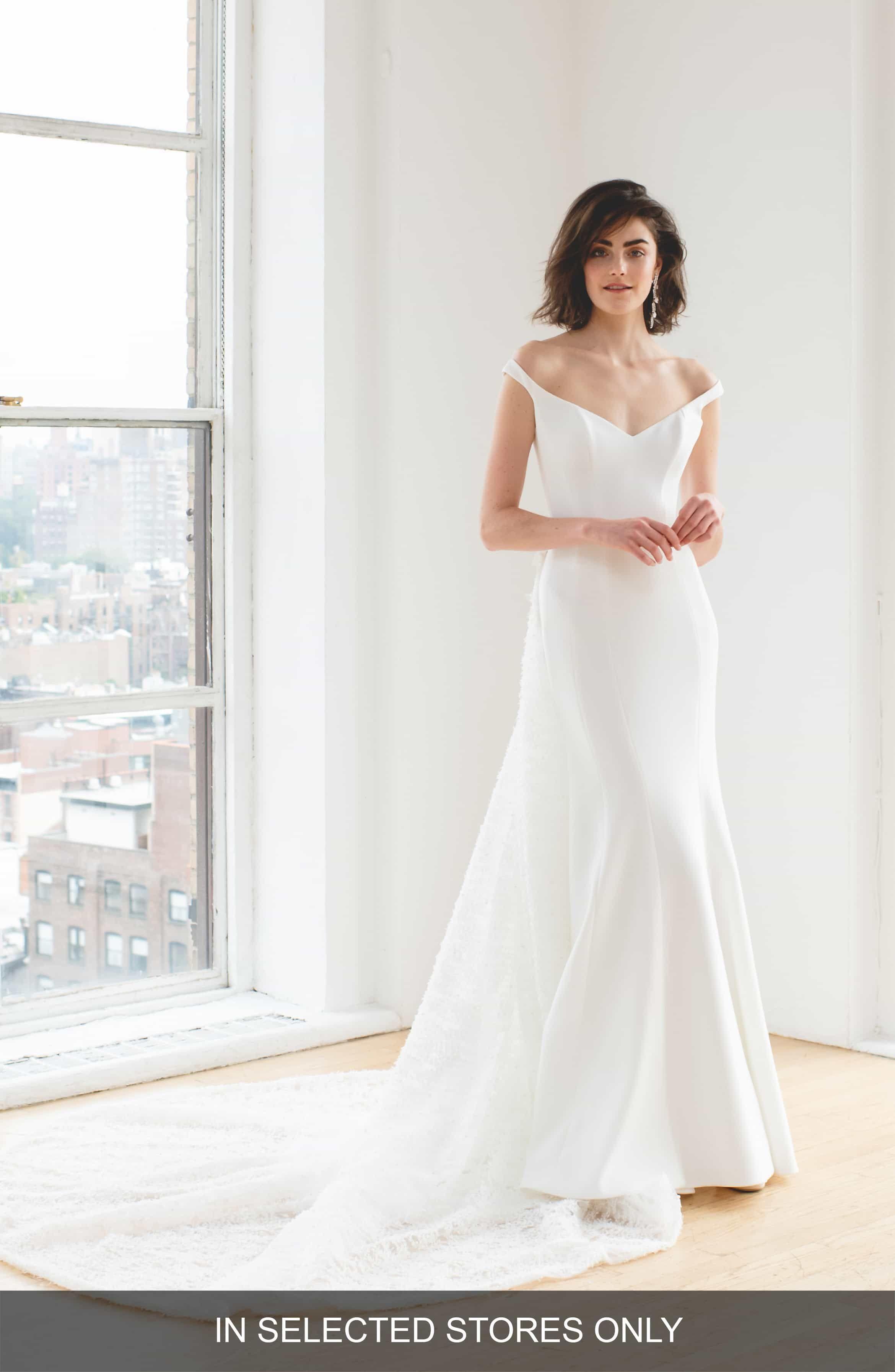Ines By Ines Di Santo Maaike Off The Shoulder Wedding Dress In