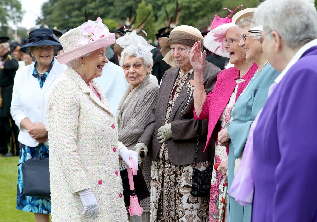 Queen Elizabeth II Hosts Garden Party At The Palace Of