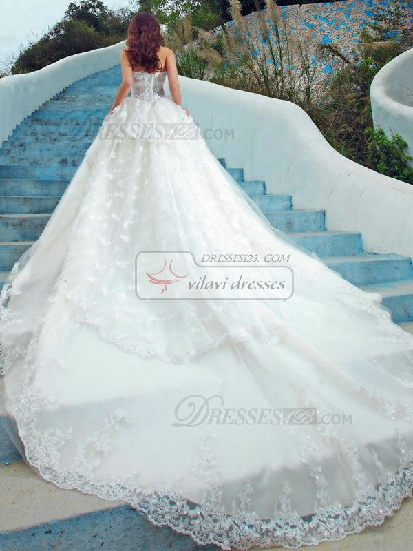 couture wedding dresses with the longest veils and trains google search