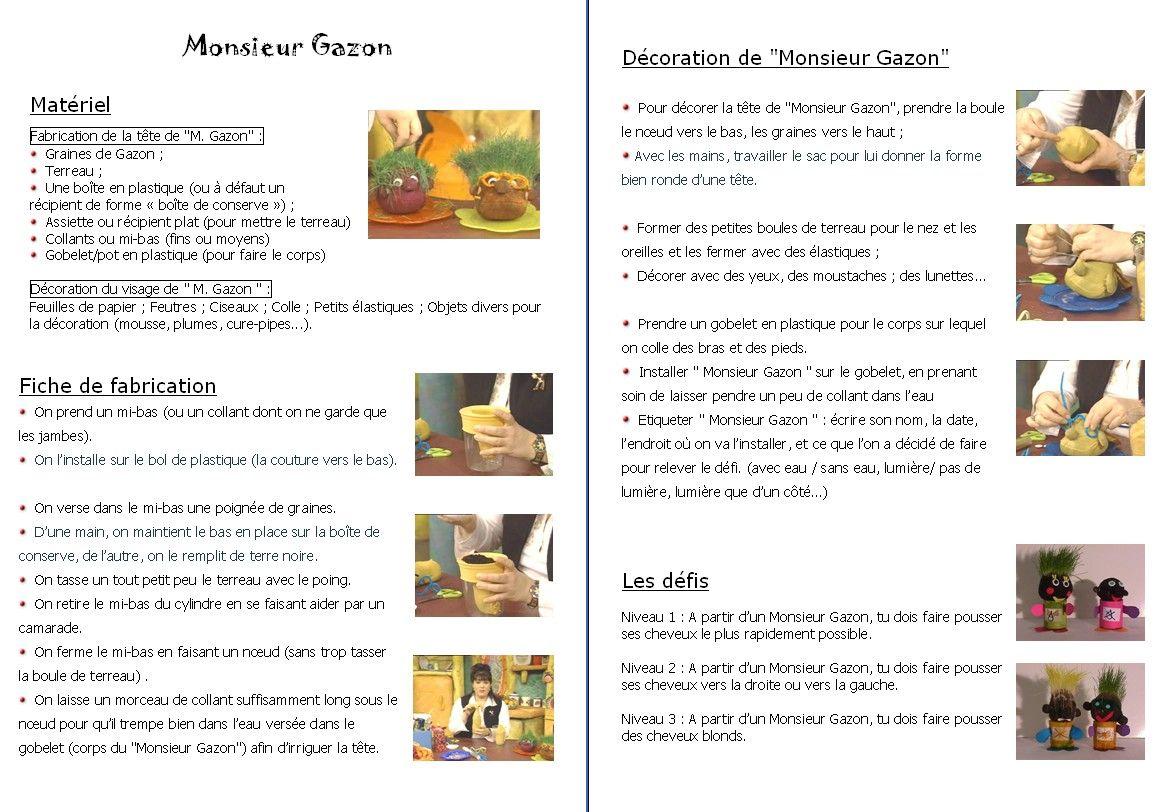 Monsieur Gazon Toujours En Autonomie Teste En Cycle 3 Pour Totale Autonomie Cycle 2 Pour Atelier Surveille Kids Birthday Pixel Kids