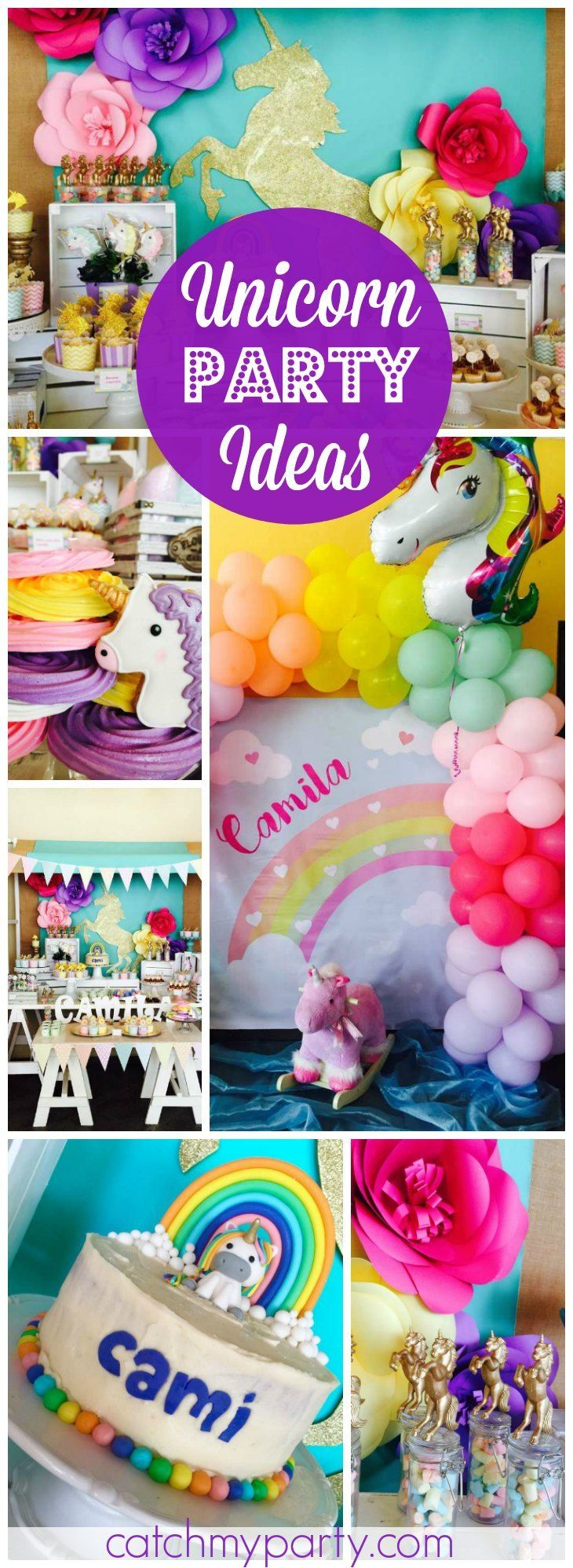 Unicorns rainbow And Fun Birthday Camilas Enchanted Unicorn