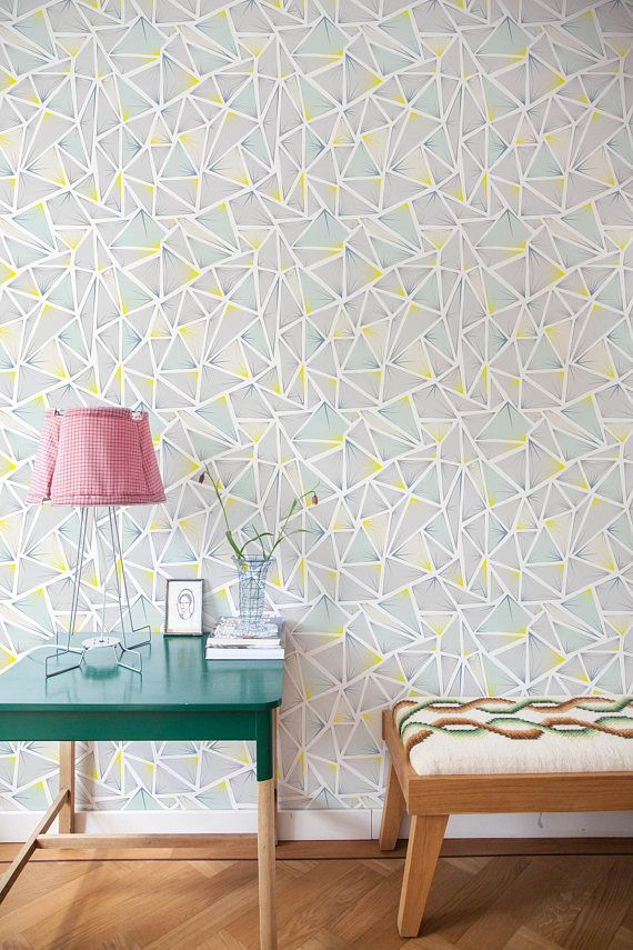 Removable Wallpaper, Scandinavian Wallpaper, Temporary Wallpaper