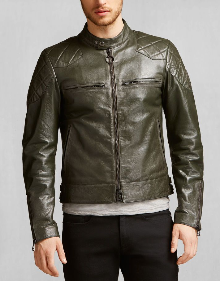 ee0172c860bd Stannard Jacket - Racing Green Leather Beckham X Belstaff