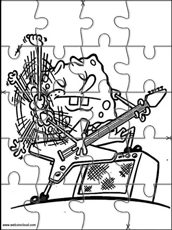 Printable jigsaw puzzles to cut out for kids SpongeBob 21 ...