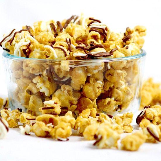 Homemade Zebra Caramel Popcorn