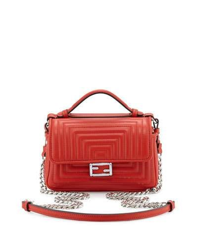 3af723138c5 FENDI Baguette Micro Double-Sided Quilted Leather Bag