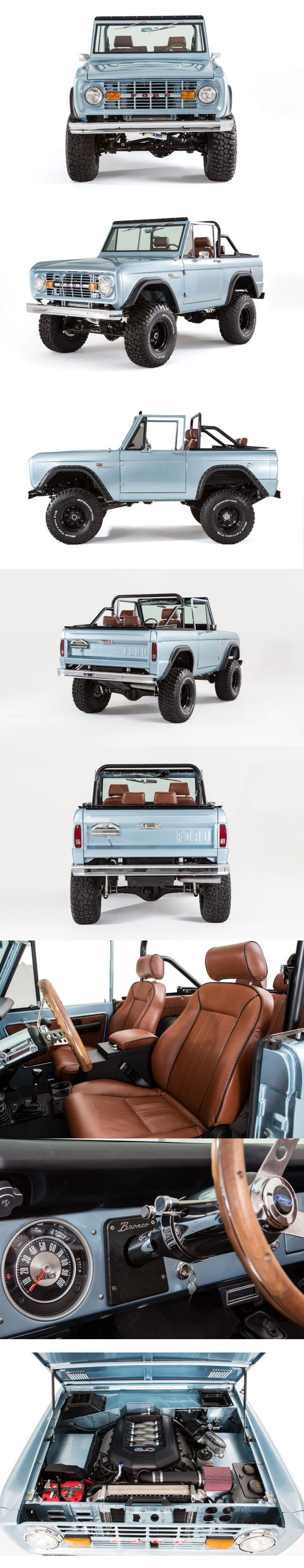 1974 ford bronco restoration with coyote 5 0l v8 engine bronco pinterest voitures. Black Bedroom Furniture Sets. Home Design Ideas
