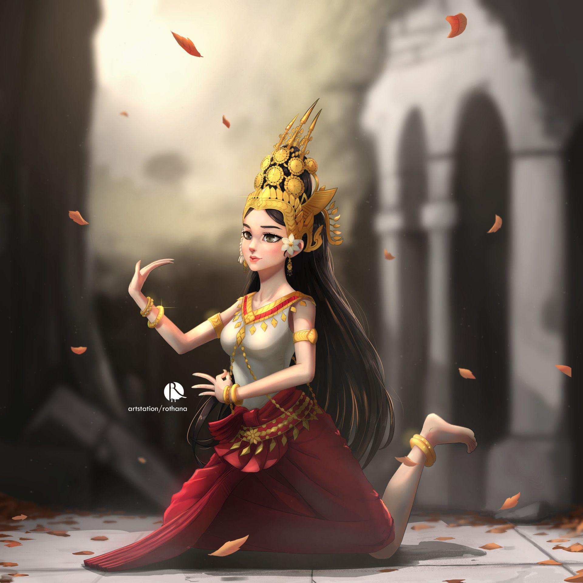 ArtStation - Apsara, Rothana Chhourm   ศิลปะร่วมสมัย ...
