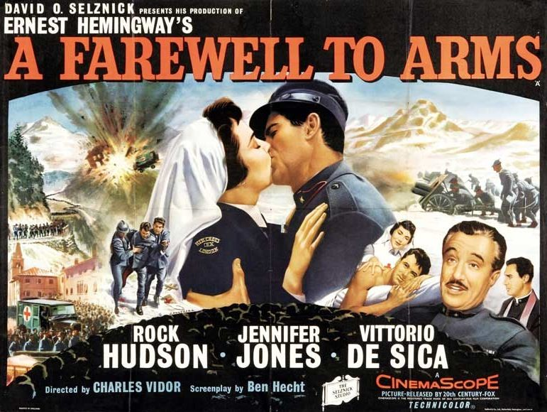 A Farewell to Arms Movie Poster #rockhudson #jenniferjones ...