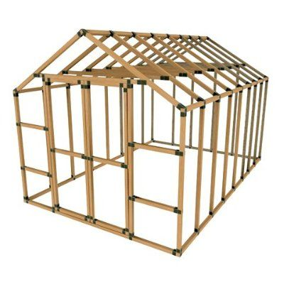 ez frame kit for building simple sheds and shelters from 2 x 2 ...