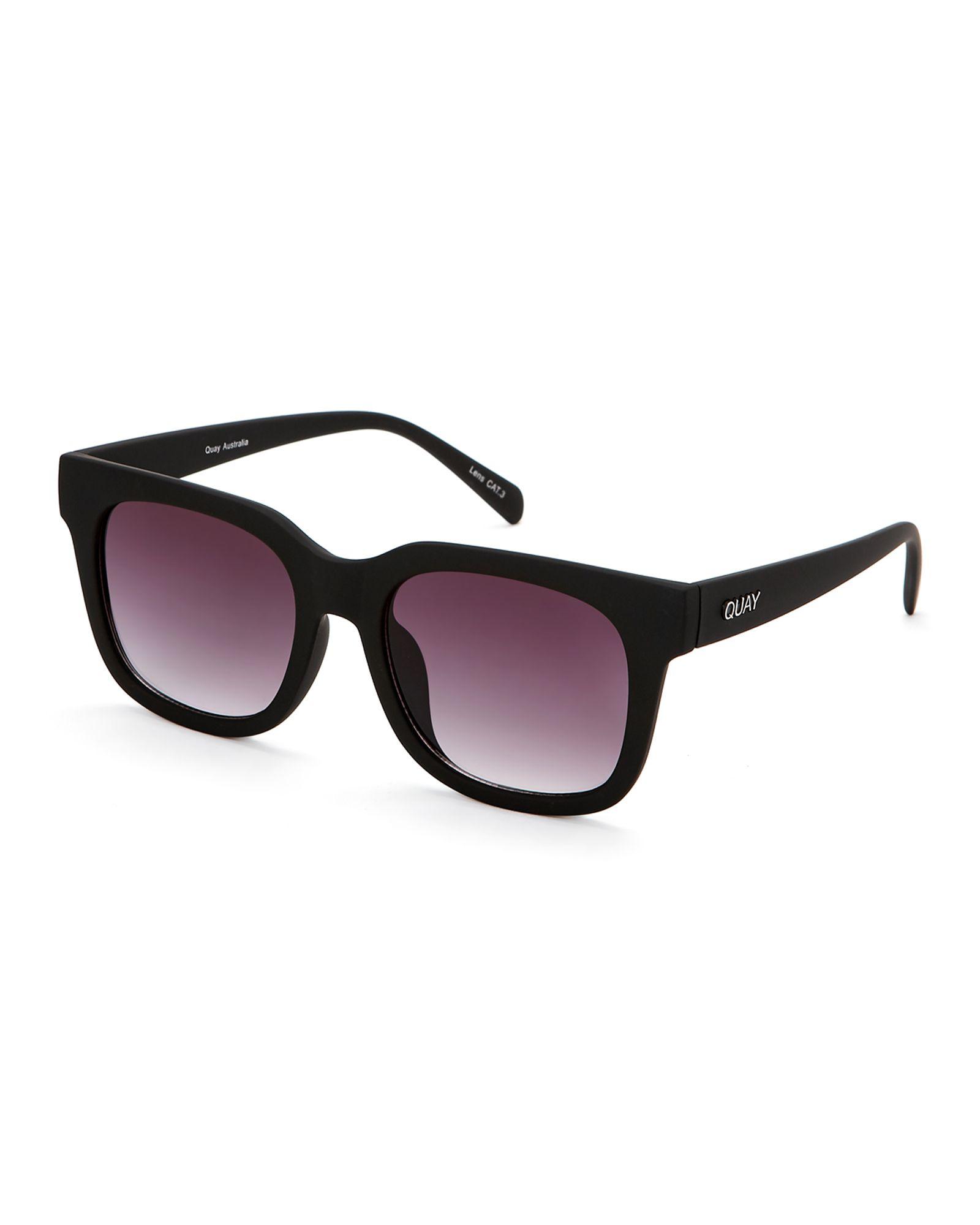 Quay Australia Black Libre XL Wayfarer Sunglasses