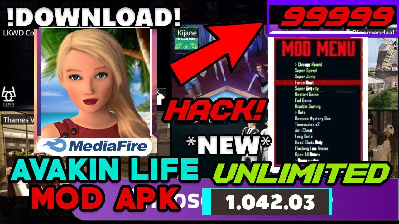 ⚡No Root⚡ Avakin Life Mod Apk 999XP Unlimited Avacoins