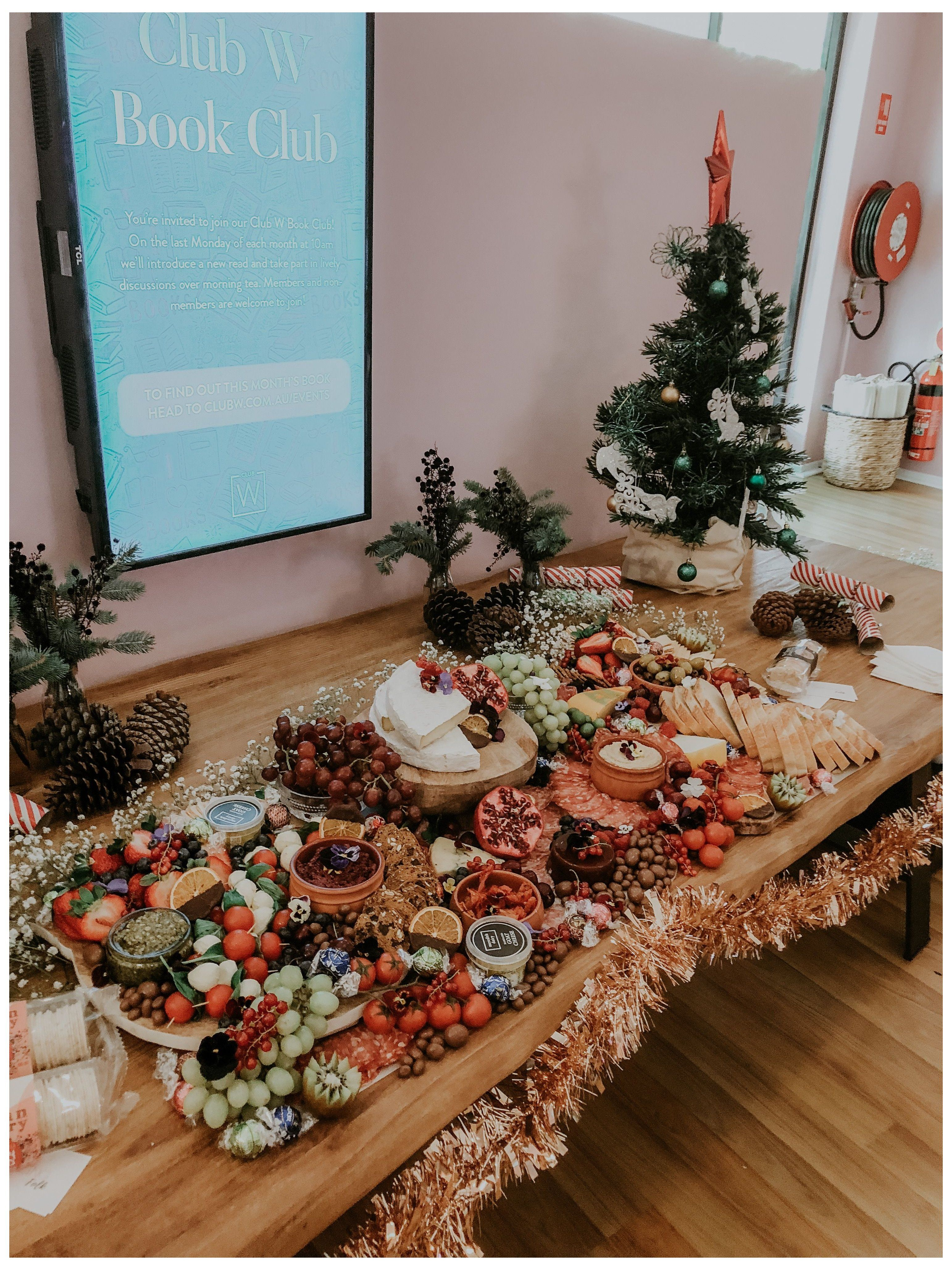 Pin By Kristina B On Baby Shower In 2020 Christmas Party Buffet Christmas Buffet Christmas Catering