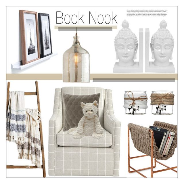 """Curl Up: Reading Nook"" by pat912 ❤ liked on Polyvore featuring Three Hands, Ballard Designs, Madison Park, Arteriors, Jellycat, Home, polyvoreeditorial and ReadingNook"