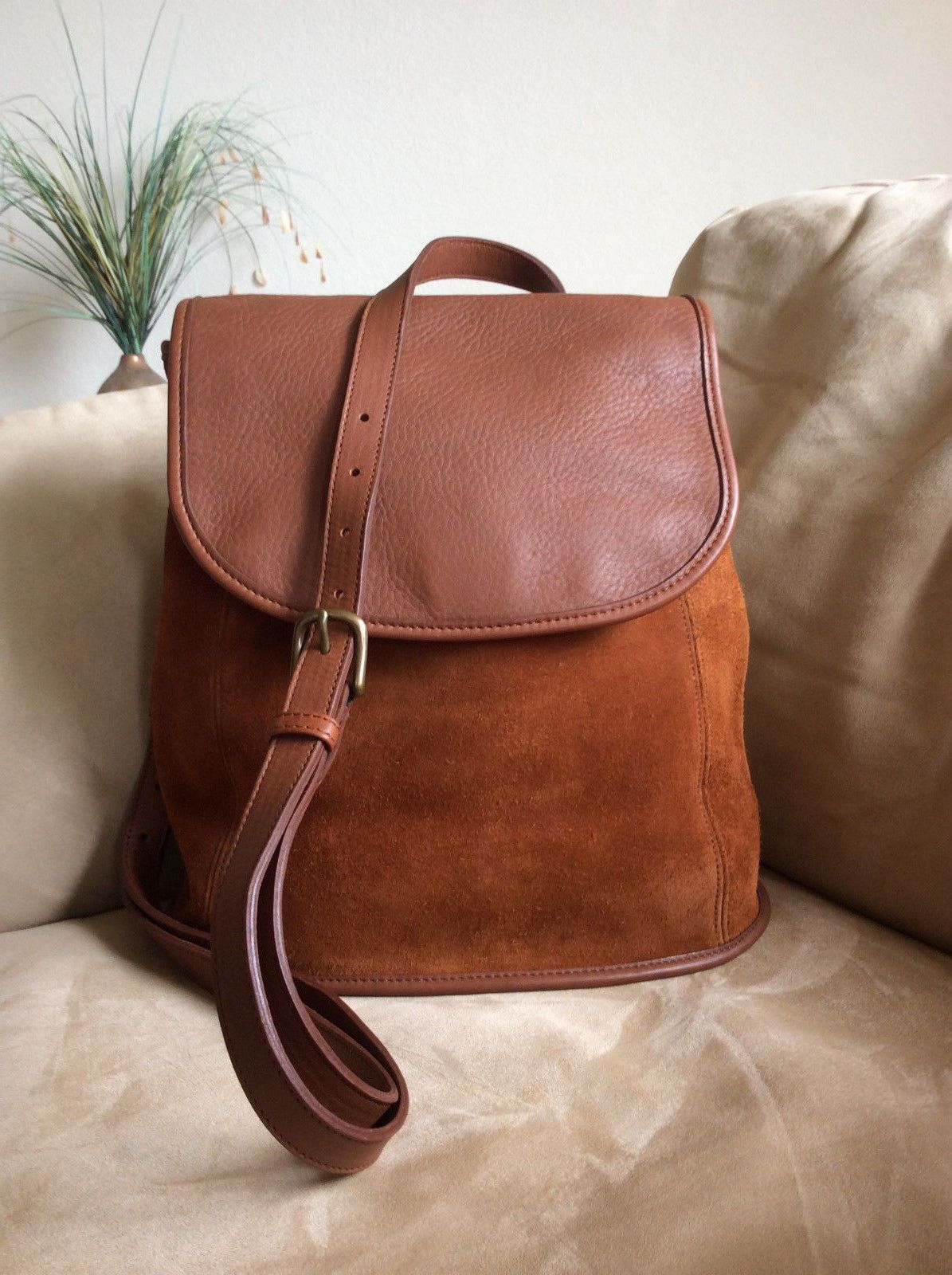 b40f725b26 Beautiful Vintage COACH Berkeley Convertible Backpack Russet Suede Leather   9016