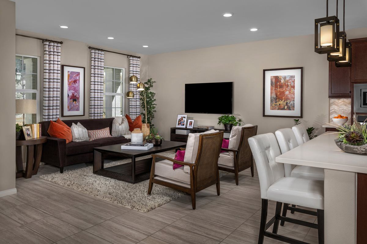 New Homes In Chino Ca Turnleaf Residence 1879 Great Room New Home Communities Kb Homes Home