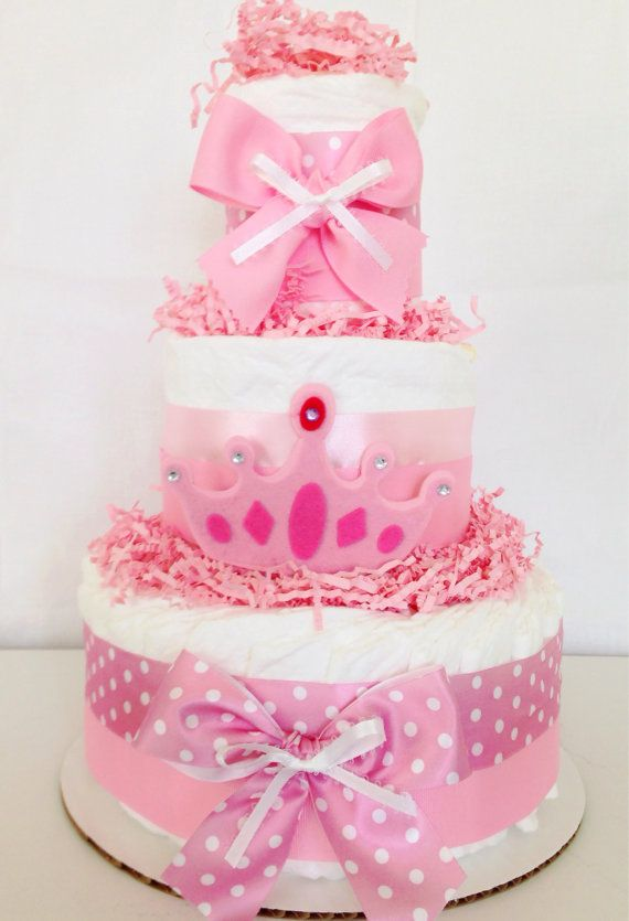 pink princess diaper cake princess baby shower centerpiece girl