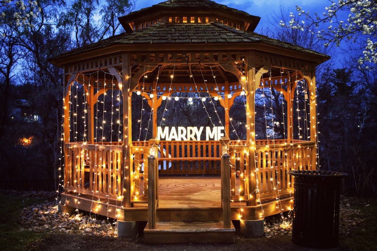Lighted Romantic Gazebo Proposal Gazebo Lighting Gazebo Twilight Wedding